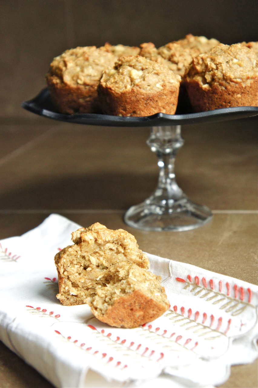 Banana Muffins {Vegan, Oil Free, Whole Wheat, with Almond Meal}