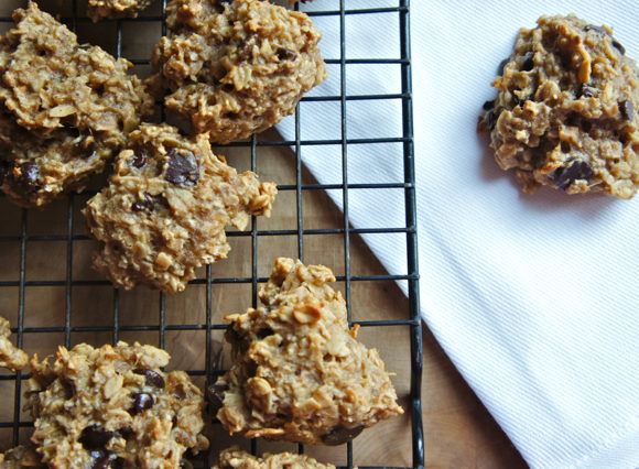 Gluten-Free Banana Peanut Butter Chocolate Chip Cookies