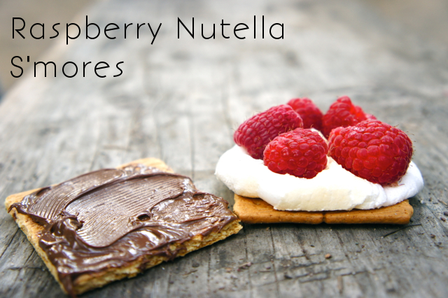 Raspberry Nutella S'mores & Bacon S'mores