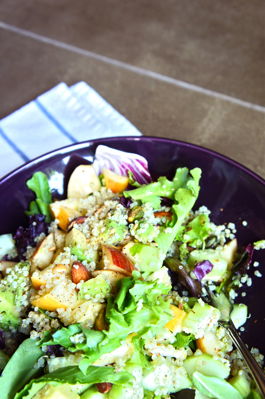 Go to Salad with Quinoa, Avocado, and Apples