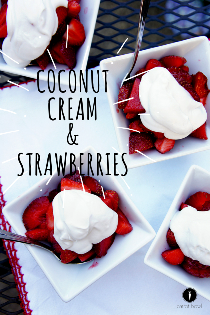 Coconut Cream and Strawberries