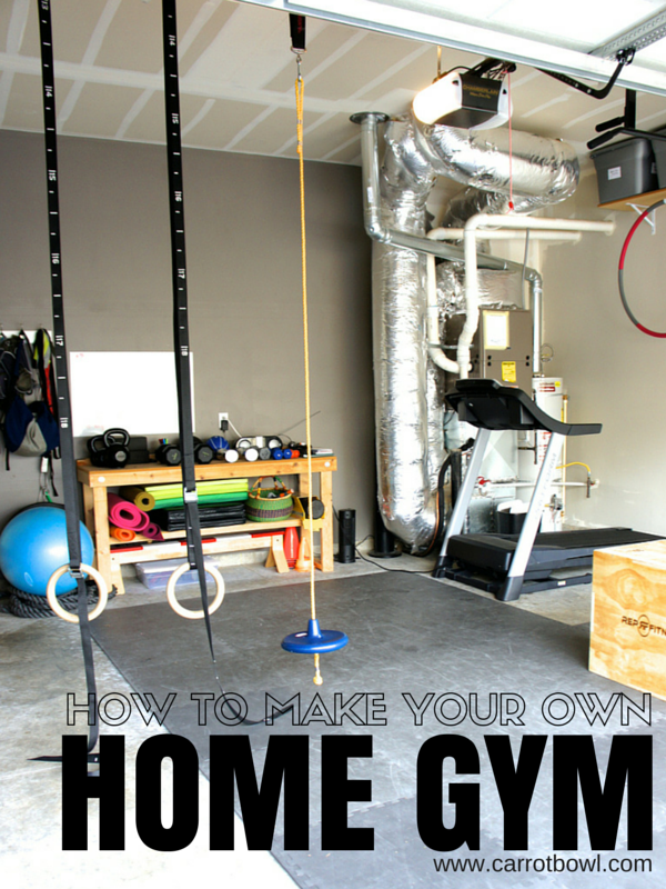How to Make Your Own Home Gym: the creative process to your home gym success.