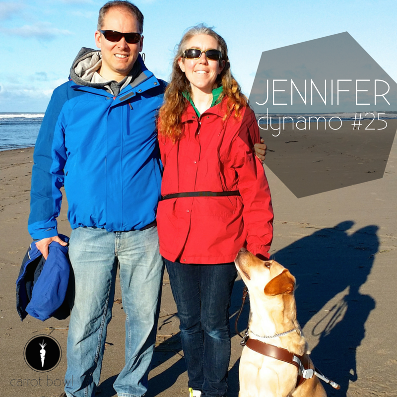 Dynamo: Jennifer - Jennifer is a runner, her goal is to live in the present, she's a mother and inspiring friend, and she also happens to be blind.