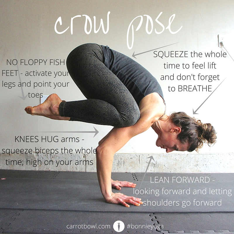Crow Pose Instruction - Bonnie @ Carrot Bowl - carrotbowl.com