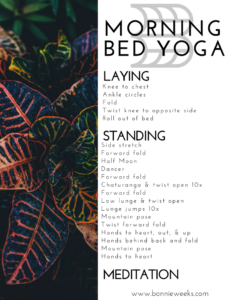 morning bed yoga